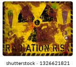nuclear radiation warning sign  ... | Shutterstock . vector #1326621821