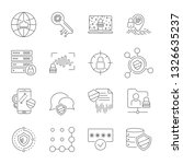 set icons of cyber protection... | Shutterstock .eps vector #1326635237