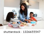 children in kitchen at home... | Shutterstock . vector #1326655547