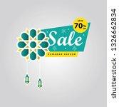 ramadan sale banner discount... | Shutterstock .eps vector #1326662834