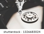 hard disc drive. opened hard... | Shutterstock . vector #1326683024