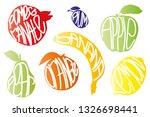 fruits set words  | Shutterstock .eps vector #1326698441