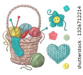 Set For Handmade Basket With...