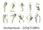 gold floral number set   digits ... | Shutterstock . vector #1326713801