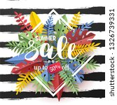 trendy summer sale flyer with... | Shutterstock .eps vector #1326739331