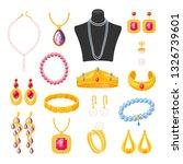women jewelry accessories ... | Shutterstock .eps vector #1326739601