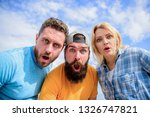 no way. friends shocked faces...   Shutterstock . vector #1326747821