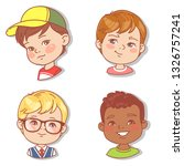 set with boy's faces. userpics... | Shutterstock .eps vector #1326757241