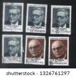 ussr    1945 1980   a set of... | Shutterstock . vector #1326761297