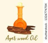 agarwood oil at glassware... | Shutterstock .eps vector #1326774704