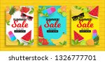 set of summer sale background... | Shutterstock .eps vector #1326777701