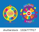 Stock vector lucky draw wheel for gaming tv shows etc 1326777917