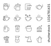 coffee and tea icons set | Shutterstock .eps vector #1326781631