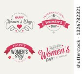 happy women's day greeting card ... | Shutterstock .eps vector #1326782321