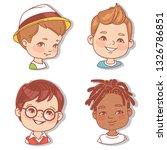 set with boy's faces. userpics... | Shutterstock .eps vector #1326786851