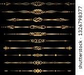set of golden dividers and... | Shutterstock .eps vector #1326798377