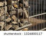gabion. close up on a steel ... | Shutterstock . vector #1326800117