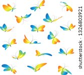 flying art different colorful... | Shutterstock .eps vector #1326803921