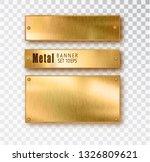 metal gold banners set...   Shutterstock .eps vector #1326809621