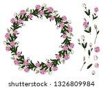 decorative spring wreath of... | Shutterstock .eps vector #1326809984