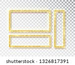 gold shiny glowing frame set .... | Shutterstock .eps vector #1326817391