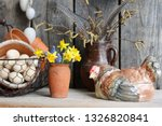 Easter Decoration With Vintage...