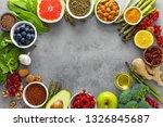 healthy food background ... | Shutterstock . vector #1326845687