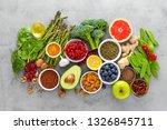 healthy food background ... | Shutterstock . vector #1326845711