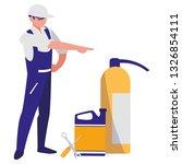 mechanic worker with... | Shutterstock .eps vector #1326854111
