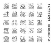 landscape and landforms icons... | Shutterstock .eps vector #1326861761
