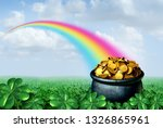 Pot Of Gold At The End Of A...