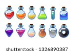 set bottles with different...