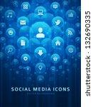 social media icons and light... | Shutterstock .eps vector #132690335