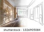 apartment room during... | Shutterstock . vector #1326905084