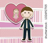 illustration of couple in love  ... | Shutterstock .eps vector #132692705