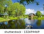 pond in summer | Shutterstock . vector #132694469