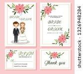 wedding invite  menu  rsvp ... | Shutterstock .eps vector #1326948284