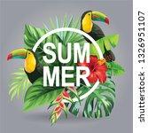 tropical hawaiian sale poster...   Shutterstock .eps vector #1326951107