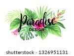 tropical hawaiian design with... | Shutterstock .eps vector #1326951131