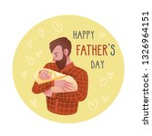 happy father's day card. cute... | Shutterstock .eps vector #1326964151