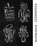 set of bakery letterings my... | Shutterstock .eps vector #1326969314
