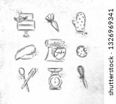 bakery icon set with... | Shutterstock .eps vector #1326969341