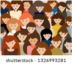 women with different skin color.... | Shutterstock .eps vector #1326993281