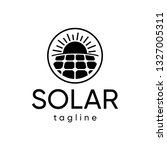 solar with line circle logo | Shutterstock .eps vector #1327005311