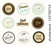 chocolate labels set | Shutterstock .eps vector #132700715