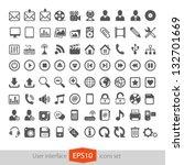 web multimedia icons set | Shutterstock .eps vector #132701669