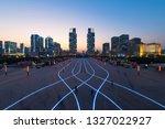 zhengzhou landmark twin tower | Shutterstock . vector #1327022927