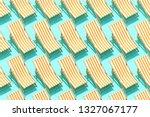 Pattern Orange Beach Chair On...