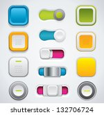 colorful buttons in different...