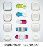 modern ui button set including...